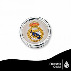 Pin escudo Real Madrid Plata de ley redondo [6813]