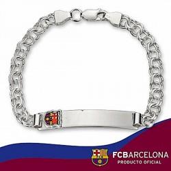 Esclava escudo F.C. Barcelona Plata de ley húngara pequeña [6870]