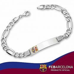 Esclava F.C. Barcelona Plata de ley cartier esmalte 20cm. [6871]
