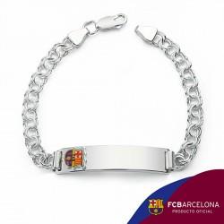 Esclava escudo F.C. Barcelona Plata de ley húngara mediana [6875]
