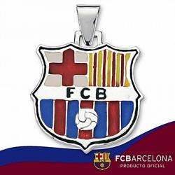 Colgante escudo F.C. Barcelona Plata de ley esmalte [6885]