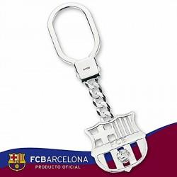 Llavero escudo F.C. Barcelona Plata de ley calado [6887]