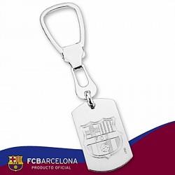 Llavero escudo F.C. Barcelona Plata de ley chapa [6889]