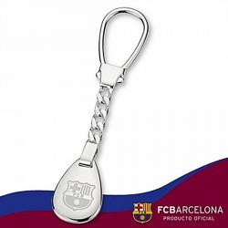 Llavero escudo F.C. Barcelona Plata de ley fotografía [6891]