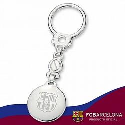 Llavero escudo F.C. Barcelona Plata de ley fotografía [6893]