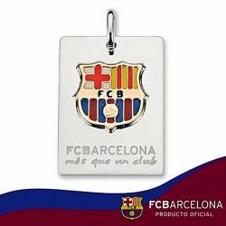 Chapa escudo F.C. Barcelona Plata de ley oro esmalte mediana [6896]