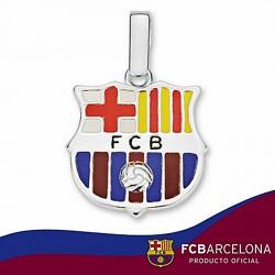 Colgante escudo F.C. Barcelona Plata de ley 20mm. esmalte [6901]