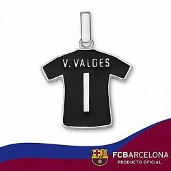 Camiseta escudo F.C. Barcelona Plata de ley Valdez n1 2011-12 [6952]