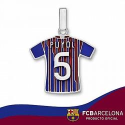 Camiseta escudo F.C. Barcelona Plata de ley Puyol n5 2011-12 [6955]