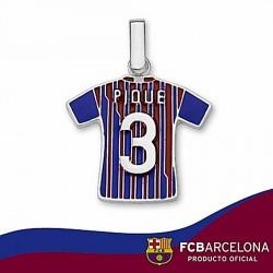 Camiseta escudo F.C. Barcelona Plata de ley Piqué n3 2011-12 [6956]