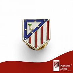 Pin escudo Atlético de Madrid oro de ley 18k 16mm. [6975]