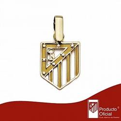 Colgante escudo Atlético de Madrid oro de ley 18k 14mm. calado [6981]