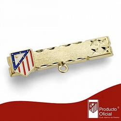 Alfiler escudo Atlético de Madrid oro de ley 18k bebé esmalte [6983]