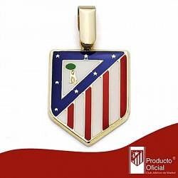 Colgante escudo Atlético de Madrid oro de ley 9k 20mm. esmalte [6993]