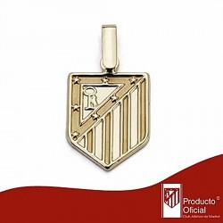 Colgante escudo Atlético de Madrid oro de ley 9k 16mm. liso [6994]