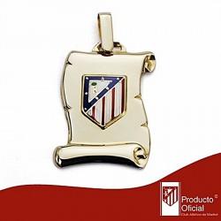 Pergamino escudo Atlético de Madrid oro de ley 9k mediano [7001]