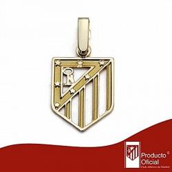 Colgante escudo Atlético de Madrid oro de ley 9k 16mm. calado [7004]