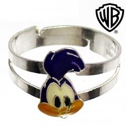 Sortija plata Ley 925m Warner Bros talla 7 ajustable [2278]