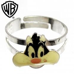 Sortija plata Ley 925m Warner Bros talla 7 ajustable [2281]
