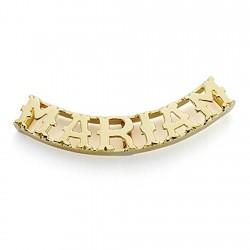 Colgante oro 18k nombre 6 letras mayúsculas a elegir liso calado - PERSONALIZABLE