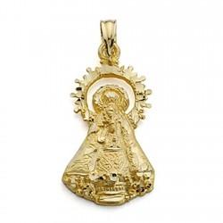 Colgante oro 18k Virgen Castellar silueta 25mm. [7089]