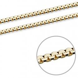 Cadena oro 18k veneciana lapidada 45cm. 1mm. 3,35gr. [7095]