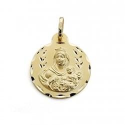 Medalla oro 18k Virgen del Carmen 20mm. [7102]