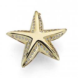 Alifler oro 18k estrella circonitas [7233]
