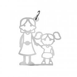 Colgante plata Ley 925m chica mamá [5059]