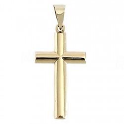 Cruz crucifijo oro 9k lisa 23 oval [7249]