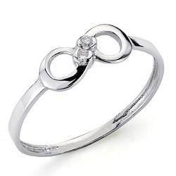 Sortija oro blanco 18k 2 diamantes brillantes 0,026ct [7358]