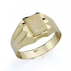 Sello oro 18k cadete tallado hueco [7513]