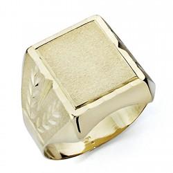 Sello oro 18k caballero tallado hueco [7536]