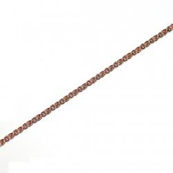 Pulsera chapada oro cordón 18,5cm. [4609]