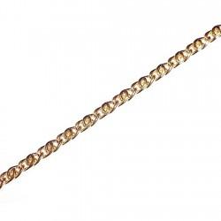 Pulsera chapada oro barbada doble 18,5cm. [4614]
