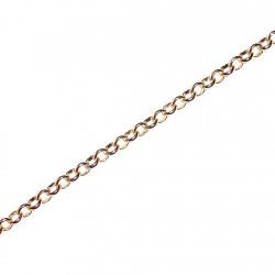 Pulsera chapada oro forzada redonda 18,5cm. [4616]