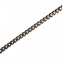 Pulsera chapada oro barbada 22cm. [4622]