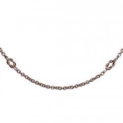 Gargantilla chapada oro cadena forzada 50cm. 8 nudos [4637]