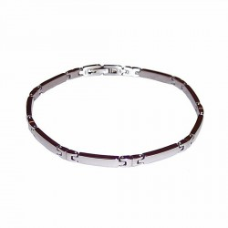 Pulsera acero inoxidable brillo [996]