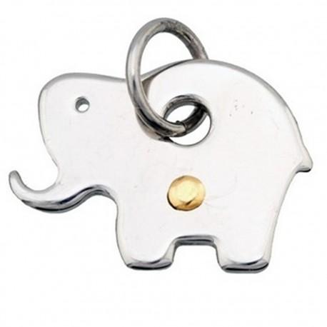 Colgante acero y detalle oro 18k elefante [4973]