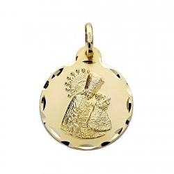 Medalla oro 18k Virgen Desamparados 20mm. [7749]