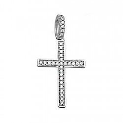 Cruz plata Ley 925m 22mm. circonitas asa [7832]