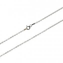 Cadena plata Ley 925m 45 cm. forzada 1,6mm. [7839]