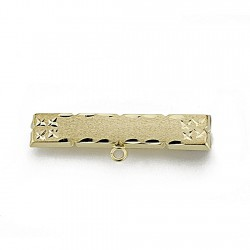 Alfiler oro 9k bebé 30mm. estrellas [7845]