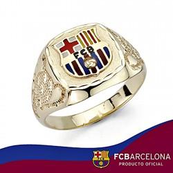 Sello escudo F.C. Barcelona oro de ley 18k tambor copa trofeo [7879]