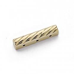 Fornitura oro 18k separador collar 3 vueltas 17mm. [7885]