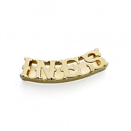 Colgante oro 18k nombre 4 letras a elegir [7892]