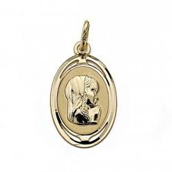Medalla oro 18k Virgen Nina 21mm. oval [7996]