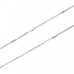Cadena plata Ley 925m 60cm. ancla 2,5mm. [8094]