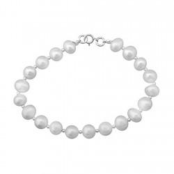 Pulsera plata ley 925m 20 perlas cultivadas [8212]